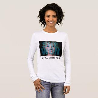 T-shirt À Manches Longues Hillary Clinton a gagné la majorité