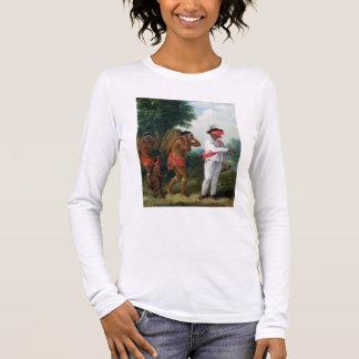 T-shirt À Manches Longues Homme indien occidental de couleur, dirigeant deux