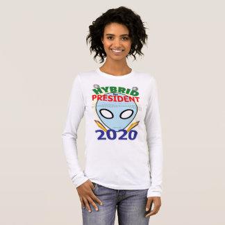 T-shirt À Manches Longues Hybride pour le président 2020 - bouche d'ADN