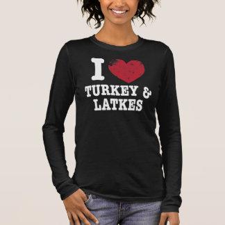 T-shirt À Manches Longues I Latkes de dindes de coeur