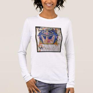 """T-shirt À Manches Longues Initiale """"A"""" De de Corale/Graduale no.5"""