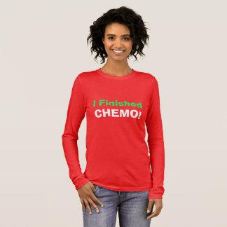 T-shirt À Manches Longues J'ai fini le chimio ! Hourra !