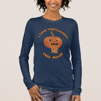 T-shirt À Manches Longues J'aime Halloween ce beaucoup !