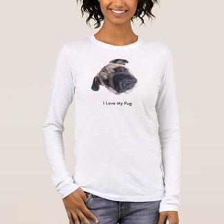 T-shirt À Manches Longues J'aime ma chemise de carlin