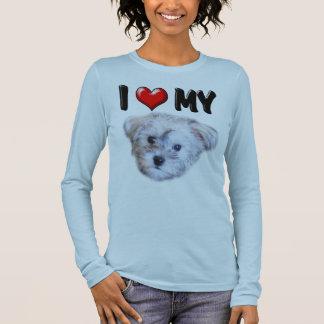 T-shirt À Manches Longues J'aime mon Schnoodle