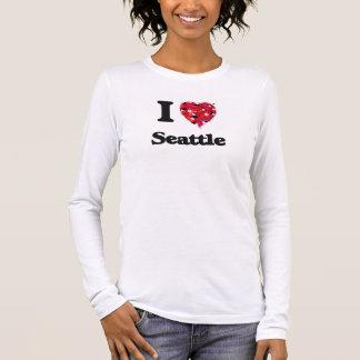 T-shirt À Manches Longues J'aime Seattle Washington
