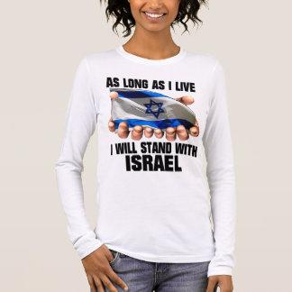 T-shirt À Manches Longues Je me tiendrai avec l'Israël