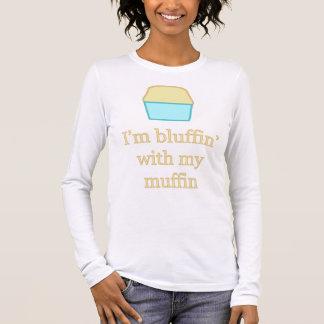 T-shirt À Manches Longues Je suis bluffin avec mon petit pain