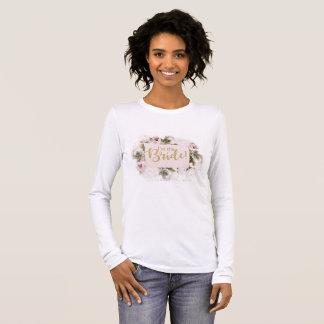 """T-shirt À Manches Longues """"Je suis chemise de la jeune mariée"""" - assortiment"""