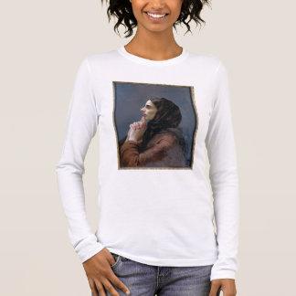 T-shirt À Manches Longues Jeune femme à la prière, 1879 (huile sur la toile)