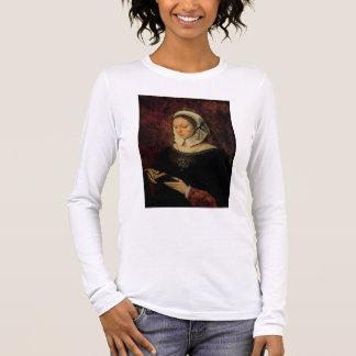 T-shirt À Manches Longues Jeune femme lisant un livre des heures (huile sur
