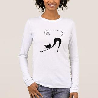 T-shirt À Manches Longues Kitty fantaisie noir 2
