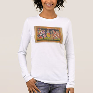 T-shirt À Manches Longues Krishna soulevant et le bâti Govardhana, du