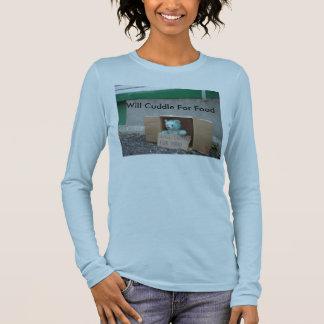 T-shirt À Manches Longues la -caresse-pour-nourriture, caressera pour la