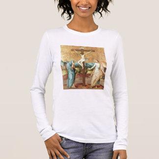 T-shirt À Manches Longues La crucifixion avec la Vierge et le St John l'Ev