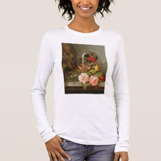 T-shirt À Manches Longues La vie toujours avec l'oiseau de ronflement dans