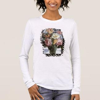 T-shirt À Manches Longues La vie toujours des fleurs dans un verre de