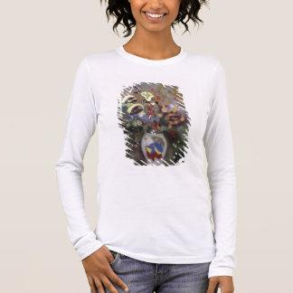 T-shirt À Manches Longues La vie toujours d'un vase de fleurs (en pastel sur