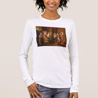 T-shirt À Manches Longues La visite à la grand-mère (huile sur la toile)
