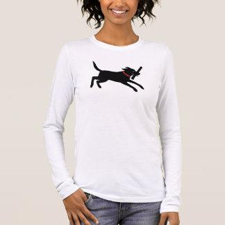 T-shirt À Manches Longues Labrador retriever (noir)