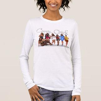 T-shirt À Manches Longues L'attitude sinueuse de poussin