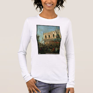 T-shirt À Manches Longues Le doge dans Shrove le festival de mardi sur le
