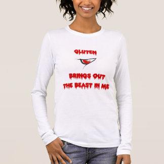 T-shirt À Manches Longues Le gluten met en évidence la bête dans moi