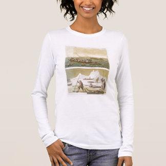 T-shirt À Manches Longues Le Groenland : Pêche de baleine et chasse aux