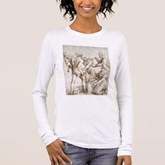 T-shirt À Manches Longues Le jugement de Solomon (stylo et encre)