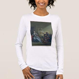 T-shirt À Manches Longues Le peintre de harlequin, c.1742 (huile sur la