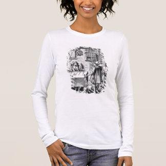 T-shirt À Manches Longues Le récepteur des impôts, après une gravure sur