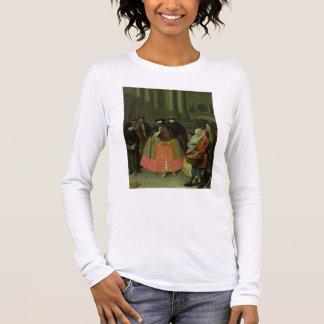 T-shirt À Manches Longues Le vendeur d'Apple (huile sur la toile)