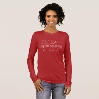 T-shirt À Manches Longues Les buts du nord-ouest de banque de lait de mères