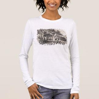 T-shirt À Manches Longues Les cèdres du Liban, gravés par Freeman (sépia