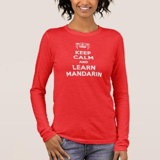 T-shirt À Manches Longues Les dames maintiennent calme et apprennent la
