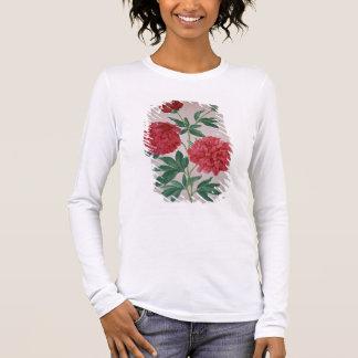 T-shirt À Manches Longues Les pivoines, plaquent 46 du Florilegium de Nassau
