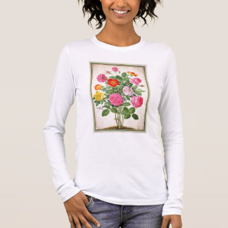 T-shirt À Manches Longues Les roses, plaquent 4 du Florilegium de Nassau (la