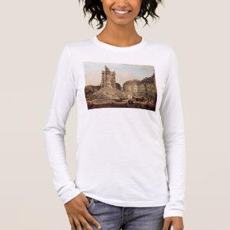 T-shirt À Manches Longues Les ruines du vieux Kreuzkirche, Dresde