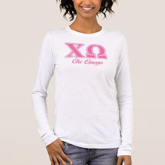 T-shirt À Manches Longues Lettres roses d'Omega de Chi
