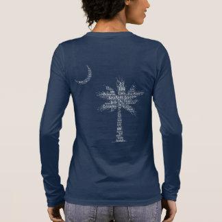 """T-shirt À Manches Longues Logo """"de fille du sud"""" de Palmetto de concepteur"""