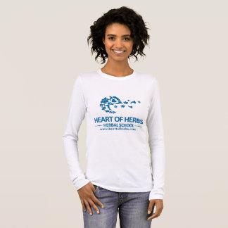 T-shirt À Manches Longues Long coeur de douille de l'école de fines herbes T