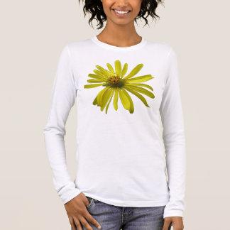 T-shirt À Manches Longues Longue douille de fleur jaune