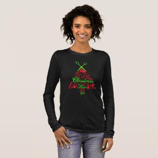 T-shirt À Manches Longues Longue douille de Joyeux Noël de beauté