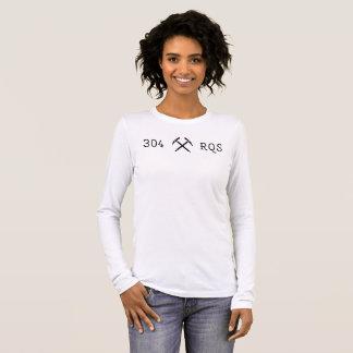 T-shirt À Manches Longues Longue pièce en t de la douille de 304 femmes de
