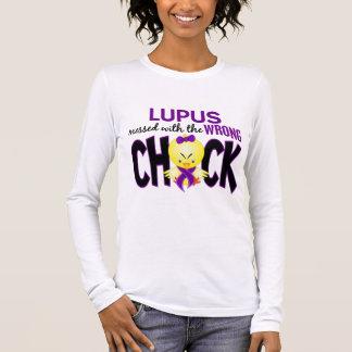 T-shirt À Manches Longues Lupus sali avec le poussin faux