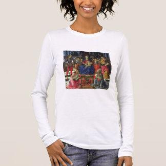 T-shirt À Manches Longues Madonna et enfant avec des solides solubles.