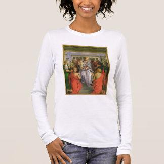 T-shirt À Manches Longues Madonna et enfant avec huit saints, 1520s (humeur