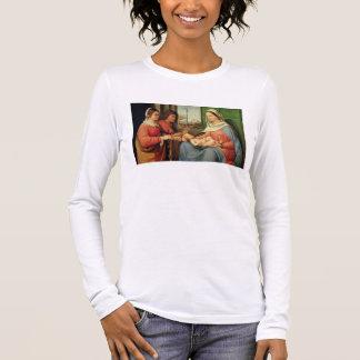 T-shirt À Manches Longues Madonna et enfant avec les saints 2