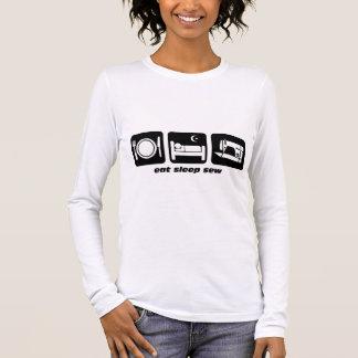 T-shirt À Manches Longues Mangez le sommeil cousent