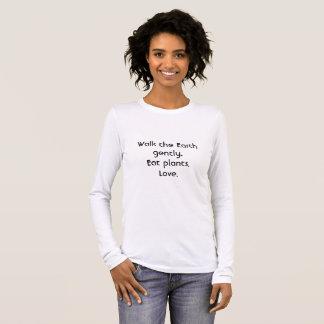T-shirt À Manches Longues Marchent la terre doucement